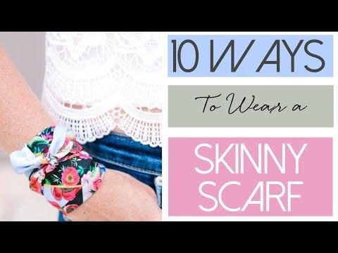 10 Ways To Wear a Skinny Scarf | Fashion Over 40