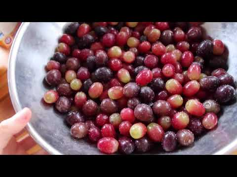 What I eat for Break-fast: How I wash my Grapes