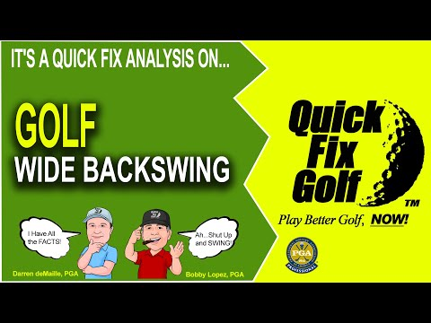 Golf Drill Wide Backswing