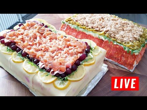 How to make savoury cake Swedish Smörgåstårta