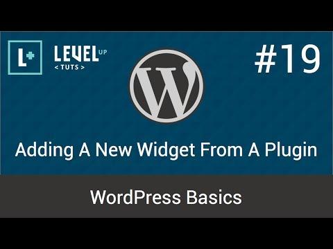 WordPress Basics #19 - Adding A New Widget From A Plugin
