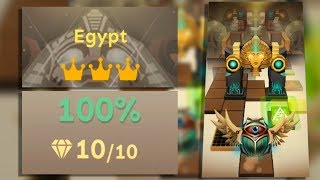 Rolling Sky Level 26 Egypt 100% Clear - All Gems & Crowns | SHA