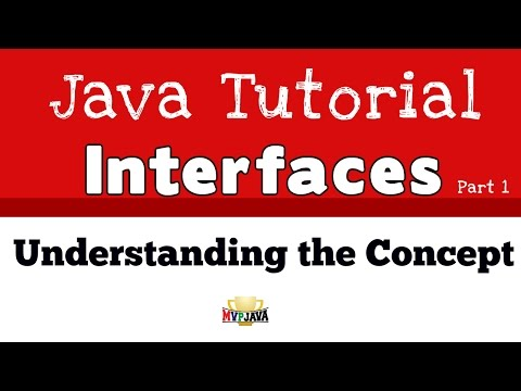 Understanding the Concept of a Java Interface  - Part 1
