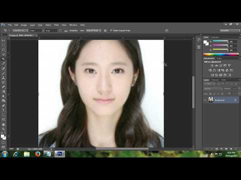 Make Printable sharp and clear passport size photo in photoshop cs5 or 6