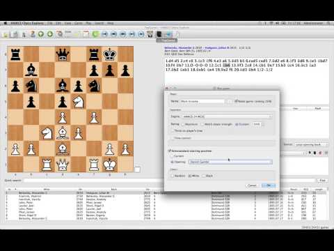 Mac Chess Explorer - Playing a game