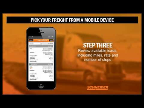 How to pick freight from a mobile device at Schneider