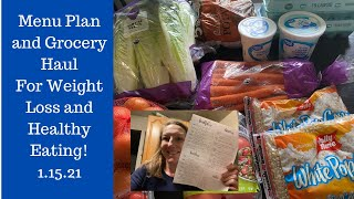 Weekly Menu Plan and Grocery Haul to Lose Weight!!