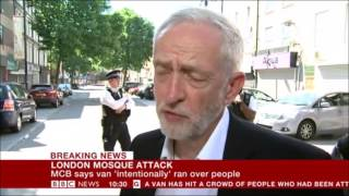 Jeremy Corbyn on Finsbury Mosque attack