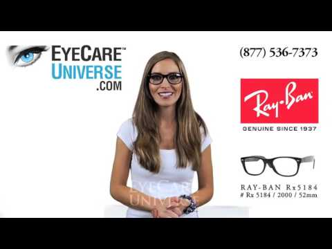 Ray Ban Rx 5184 2000 Shiny Black 52mm Detailed Review