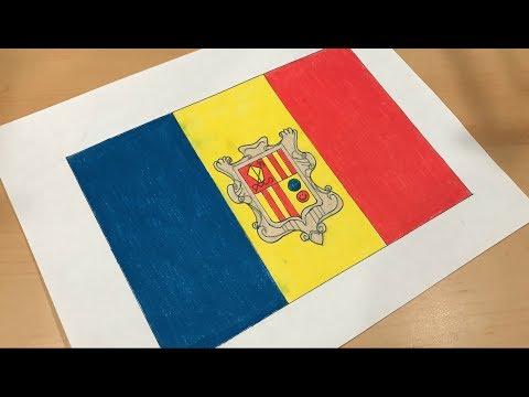 Andorran Flag Drawing 🇦🇩
