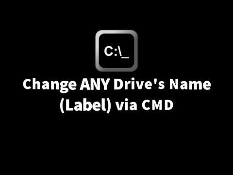 Change ANY Drive's Name Label via CMD