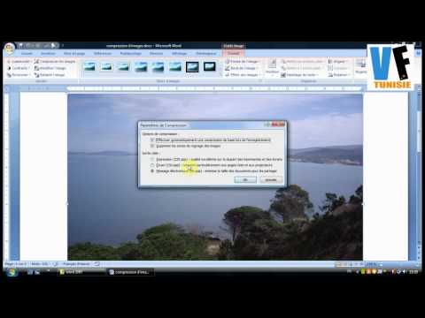 Compression d'images dans un document Word 2007