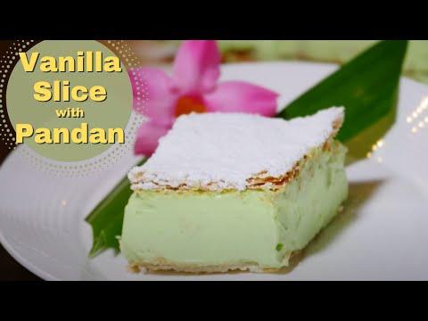 Vanilla Slice Recipe with Pandan flavour❤️️