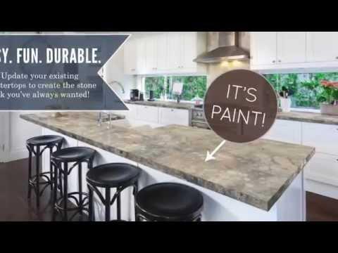Faux Granite Countertops. DIY Project