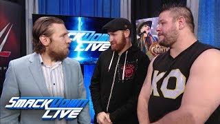 Kevin Owens & Sami Zayn try to celebrate with Daniel Bryan: SmackDown LIVE, Dec. 19, 2017