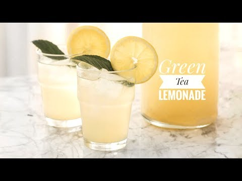 HOMEMADE GREEN TEA LEMONADE | KEZIA ENIANG