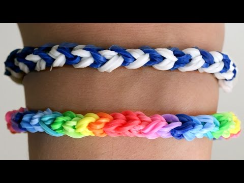 Rainbow Loom English - DOUBLE CAPPED SINGLE - Loom Bands, easy, how to, DIY
