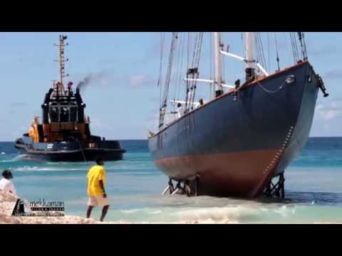 Launching the Schooner SV Ruth in Barbados