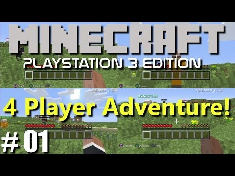 Minecraft PS3 Edition: 4 Player Adventure - Episode 1 (Family Multiplayer)