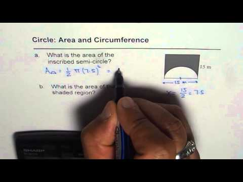 04 Area of Shaded Region Square and Semi Circle