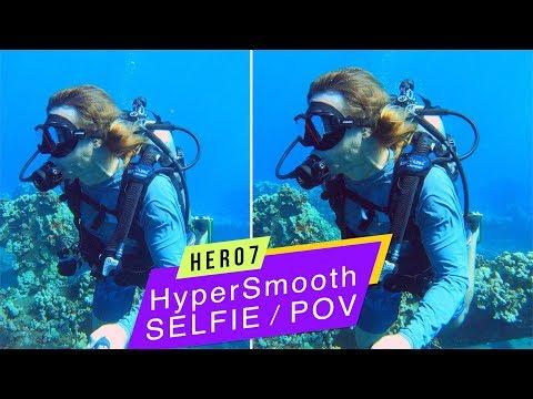 GoPro Hero7 Black: Selfie/POV HyperSmooth Underwater Comparison!  GoPro Tip #637
