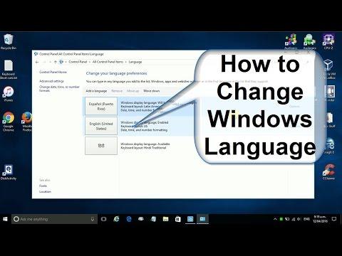 How to Change Windows 10 Language to English or Language to Spanish or Hindi