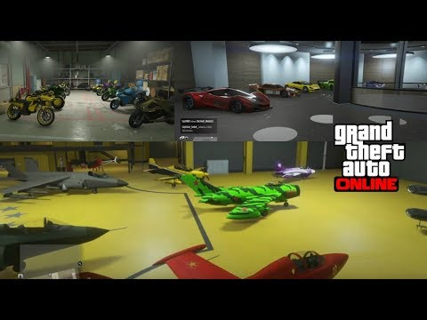 A Tour Of My Garages And Hanger, GTA Online