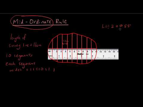 Year 12 Maths A - Use Mid ordinate rule to find the area of any shape