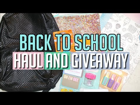 BACK TO SCHOOL SUPPLIES HAUL AND GIVEAWAY 2017