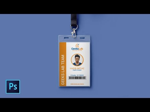 How to design ID card in Photoshop | Photoshop Tutorial