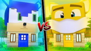 HOUSE OF SONIC VS HOUSE OF TAILS in MINECRAFT