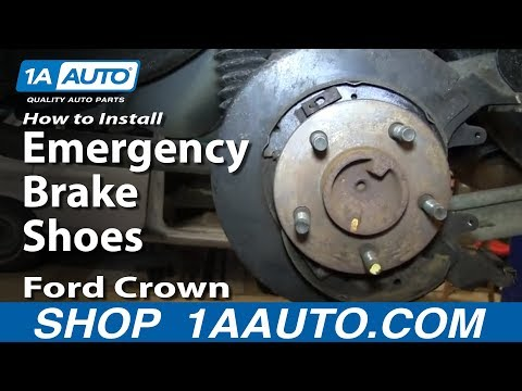 How To Install Replace Emergency Brake Shoes 2003-05 Ford Crown Victoria