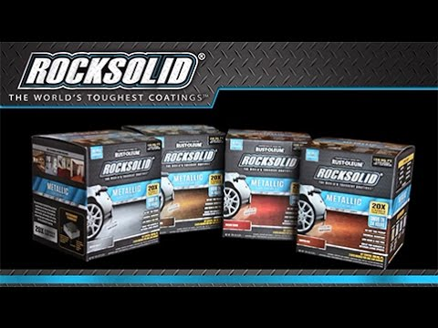 How to Video: How To Paint Your Garage Floor with  Rocksolid® Metallic Floor Coating Kit