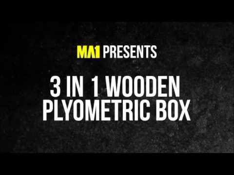 MA1 3 in 1 Wooden Plyometric Box