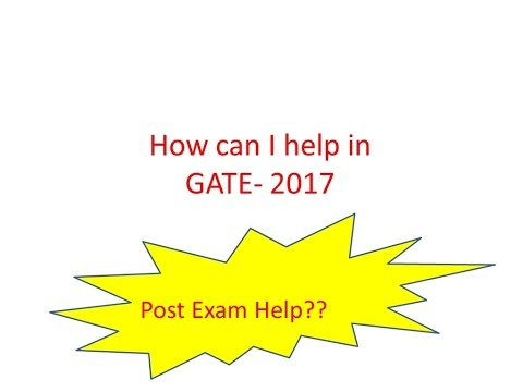How can i help you in GATE 2017
