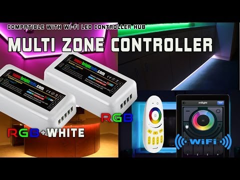 Smartphone or Tablet WiFi Compatible LED color changing RGB Multi Zone Controller