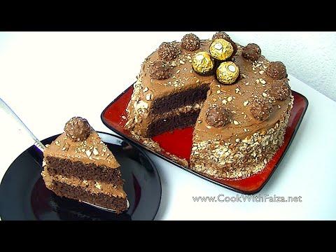 FERRERO ROCHE CAKE *COOK WITH FAIZA*