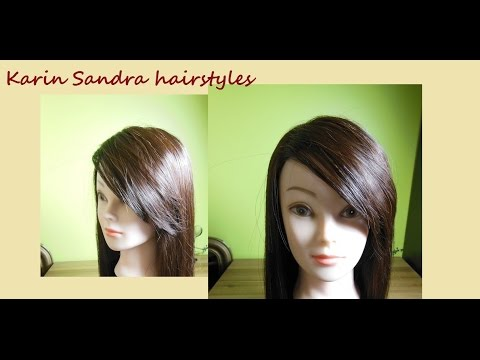 Haircut tutorial | Side Swept Bangs haircut |Long side Bangs haircut | Coupe longue frange côté
