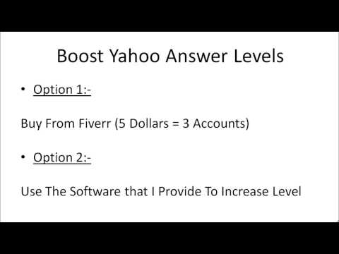 002 Boost Yahoo Answer Levels