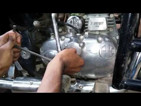 Engine oil change in Royal enfield Classic bullet , oil filter replaicing, suction filter cleaning