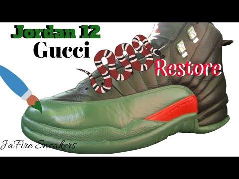 Custom Jordan 12 - Gucci Jordan 12's - Custom Jordans - Custom Shoes