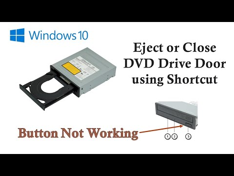 How to Eject or Close DVD Drive Tray Using Shortcut | Microsoft Windows 10 Tutorial