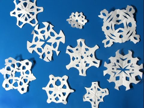 Winter craft: How to make paper snowflakes