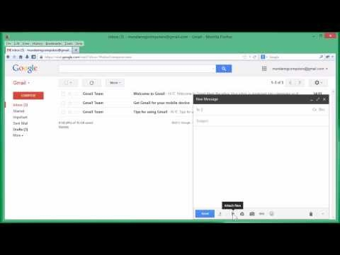 How to add a file attachment to a Gmail email message