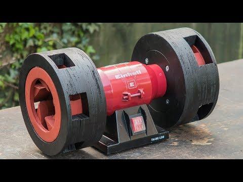 Homemade Air Raid Siren made from a bench grinder