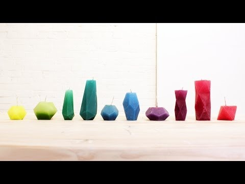 How to make geometric paper molds for candles and concrete