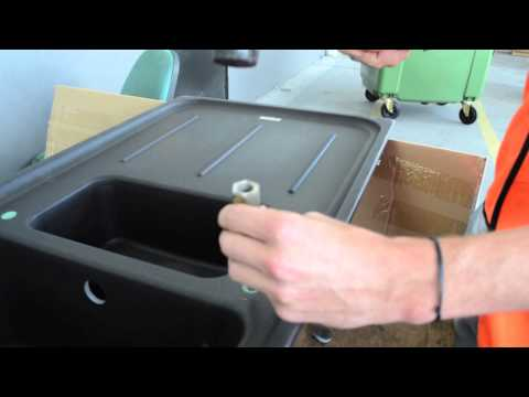 Franke How-to: Drilling a tap hole in Fragranite sink