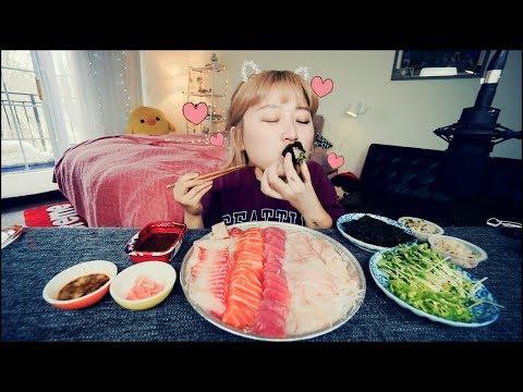 All this for $25?! Cheapest Sushi/sashimi Mukbang | KEEMI★