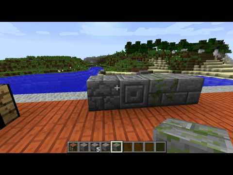 Minecraft Blocks & Items: Chiselled and Cracked Stone Brick