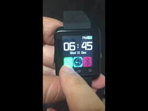 U8 smartwatch - how to update the time